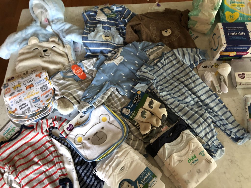Boy baby items